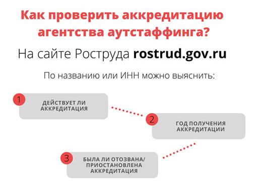 Как проверить аккредитацию аутстаф агентства?